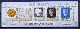 MAN -- IVERT HOJA BLOQUE Nº 12 - NUEVOS - 150 ANIV. DEL PRIMER SELLO - EN HOJA BLOQUE - Isle Of Man