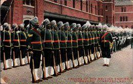 ! 1906 Old Postcard From Hongkong, Troops Of The British Empire - China (Hong Kong)