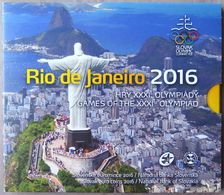 SQX2016.2 - COFFRET BU SLOVAQUIE - 2016 - 1 Cent à 2 Euros + Médaille - JO Rio - Slovakia