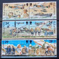 MAN -- IVERT 467/72 - NUEVOS * * - 50 ANIVERS. DE LA BATALLA DE INGLATERRA - Isle Of Man