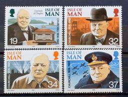 MAN -- IVERT 473/76 - NUEVOS * * - 25 ANIVERS. DE LA MUERTE DE WINSTON CHURCHILL - Isle Of Man