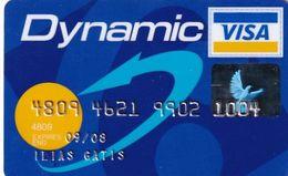 GREECE - Carrefour, Alpha Bank Dynamic Visa(reverse Axalto), 01/06, Used - Tarjetas De Crédito (caducidad Min 10 Años)