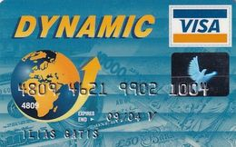 GREECE - Carrefour, Alpha Bank Dynamic Visa(reverse Schlumberger), 05/00, Used - Tarjetas De Crédito (caducidad Min 10 Años)