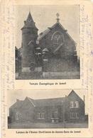 Jumet NA88: Temple Evangélique. Locaux De L'Union Chrétienne De Jeunes Gens 1907 ( Carte 2 Vues ) - Charleroi