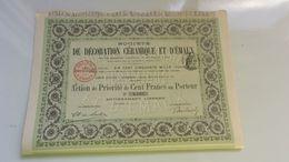 DECORATION CERAMIQUE ET EMAUX (1905) SURESNES - Actions & Titres