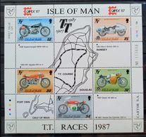 MAN -- IVERT HOJA BLOQUE Nº 21 - NUEVOS * * - CARRERAS DE MOTOS - Isle Of Man