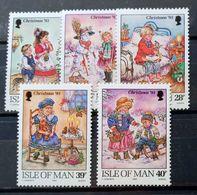 MAN -- IVERT 600/04 - NUEVOS * * - NAVIDAD 1993 - ESCENAS ANTIGUAS DE NAVIDAD - Isle Of Man