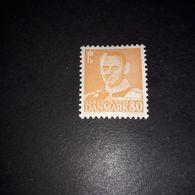"""FB1671 DANIMARCA 1948-53 RE FEDERICO IX SERIE ORDINARIA 80 GIALLO ARANCIO """"X"""" - Used Stamps"""