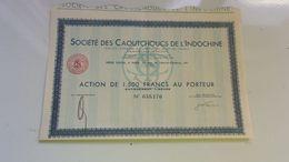 CAOUTCHOUCS DE L'INDOCHINE - Actions & Titres
