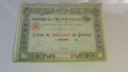 OMNIBUS Et TRAMWAYS DE LYON (1942) - Actions & Titres