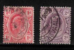 TRANSVAAL Scott # 282-3 Used - KEVII - Transvaal (1870-1909)