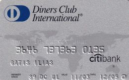 GREECE - Citibank, Diners Club International(reverse Schlumberger Solaic), 06/03, Used - Griechenland