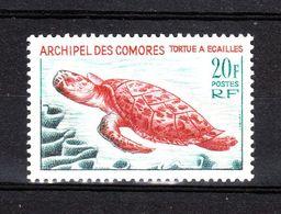 Comores  - 1966. Tartaruga Marina. Sea Turtle. High Values Of The Series. MNH, Fresh - Tartarughe