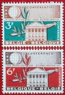 Union Interparlementaire OBC N° 1191-1192 (Mi 1251-1252) 1961 POSTFRIS MNH ** BELGIE BELGIEN / BELGIUM - Belgium
