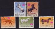Royaume 1967  Chevaux Arabes  Michel 429-433 Oblitérés Horses - Yemen