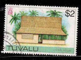 TUVALU Scott # 36 Used 1 - Living House - Tuvalu