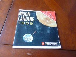 VIEW MASTER SIENCE ASTRONOMIE MOON LANDING 1969 2 CERCLES STEREOSCOPIQUES  B6632 ET B6631 - Visionneuses Stéréoscopiques