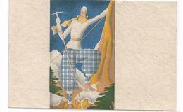 CARD ALPINISMO FUTURISMO DONNINA CON PICOZZA FIRMA F.MASINO -FP-N-2-  0882-29535 - Illustrators & Photographers