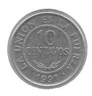 *Bolivia 10 Centavos 1991 Km 202 Unc - Bolivia