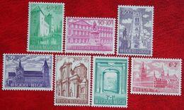 Bouwkunde Kultuur Kultur OBC N° 1205-1211 (Mi 1265-1271) 1962 POSTFRIS MNH ** BELGIE BELGIEN / BELGIUM - Belgium