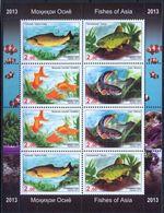 Tajikistan 2013 MiNr. 647a - 650a  Tadschikistan Fishes M\sh   MNH** 19.00 € - Tadjikistan