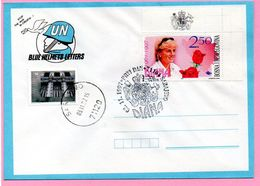 Envelope - Lady Di / Diana, Sarajevo 3.11.1997., Bosnia And Herzegovina / BIH / Blue Helmets Letters - Bosnie-Herzegovine