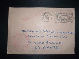 LETTRE OBL.MEC.15-7 1970 40 MONT DE MARSAN RP LANDES 6e REGIMENT DE PARACHUTISTES D'INFANTERIE DE MARINE - Correo Naval