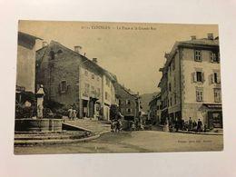 FRANCE - Haute Savoie -  Taninges - LA PLACE ET LE GRANDE RUE -  1913  -  POSTCARD - Taninges