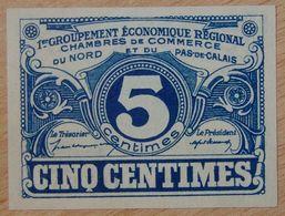 NORD Et PAS-DE-CALAIS ( 59 - 62  ) 5 Centimes Chambre De Commerce  1925 - Chamber Of Commerce