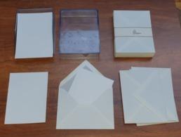 Lot 25 Enveloppes Et Cartes De Visite Neuf De Stock  - La Couronne Et Elji -  Années 60 - Visiting Cards