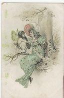 Femme Avec Ange - Cachet G. POULIN Avec SIGNATURE - Hôtel Café Restaurant De La Renaissance - BOIS LE ROI Seine Et Marne - 1900-1949