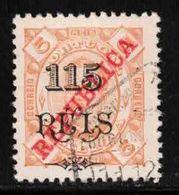 ZAMBEZIA Scott # 84 Used - With Overprint & Surcharge - Zambèze