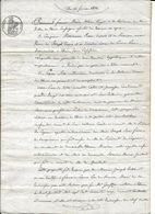 THUIR 21 FEVRIER 1834 FRANCOIS MARIA NOTAIRE ROYAL VENTE D UN COTIN JONCASSE PAR MARIANE ROUS VVE PONS A PIERRE SIRE - Documents Historiques