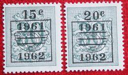 Heraldieke Leeuw Overprint OBC N° 1172A-1173A (Mi 1231 V-1232 V) 1961 1962 POSTFRIS MNH ** BELGIE BELGIEN / BELGIUM - Belgium