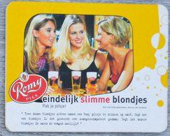 Sous-bock ROMY PILS Eindelijk Slimme Blondjes (femmes) Bierdeckel Bierviltje Coaster (CX) - Sous-bocks