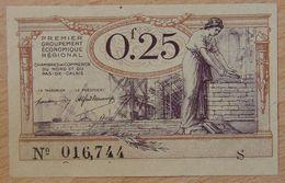 NORD Et PAS-DE-CALAIS ( 59 - 62  ) 25 Centimes Chambre De Commerce  1925 Série S - Chamber Of Commerce