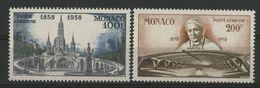 MONACO POSTE AERIENNE N° 69 + 70 Cote 5,35 € Neufs ** (MNH). - Airmail