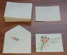 Lot 40 Enveloppes Et Cartes BONNE FÊTE Neuf De Stock - Enveloppes Partiellement Fermées (collées) - Années 60 ? - Cartes