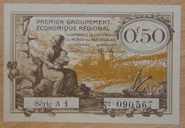 NORD Et PAS-DE-CALAIS ( 59 - 62  ) 50 Centimes Chambre De Commerce  1925 Série A1 - Chamber Of Commerce