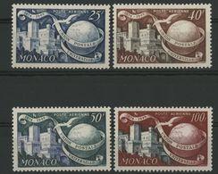 MONACO POSTE AERIENNE N° 45 à 48 Cote 16.5 € Neufs ** (MNH). Série Complète  De 4 Valeurs. - Airmail