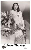 GENE TIERNEY (PB13) - Film Star Pin Up PHOTO POSTCARD - Pandora Box Edition Year 2007 - Femmes Célèbres