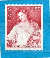 (Riz) Italia ** - 1976 -  TIZIANO VECELLIO.  Unif.1342. - 6. 1946-.. República