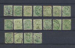 COB 137 Pour Oblitérations  18 Timbres - 1915-1920 Albert I
