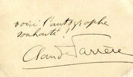 Autographe De CLAUDE FARRERE (1876-1957) DE L'ACADEMIE FRANCAISE - Autógrafos