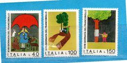 (Riz) Italia ** - 1976 - GIORNATA Del FRANCOBOLLO .  Unif.1349 / 1351 . - 6. 1946-.. República