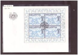 FDC BLOC No 999 BRODERIE DE ST GALL  - COTE: 500 CHF - FDC