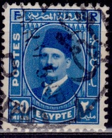 """Egypt, 1936-37, King Faud, 20m, """"Postes"""", SW#226, Used - Egypt"""