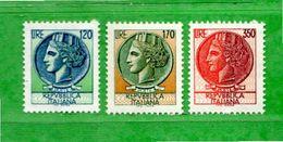 (Riz) Italia ** - 1977 -  SIRACUSANA .  Unif.1395 / 1397. - 6. 1946-.. República