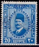 Egypt, 1927-32, King Fuad, 20m, SW#140, Used - Egypt
