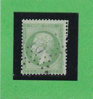 N° 20 A Vert Jaune Sur Verdâtre - ETOILE DE PARIS N° 10 -Bureau PETITE RUE DU BAC - REF 9916 - Signé - 1862 Napoléon III